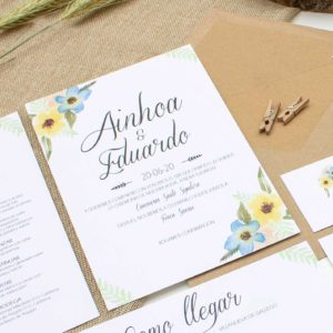 Invitación boda Allamanda - The Sweet Dates Zaragoza