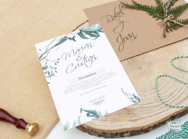 Invitación boda Valeria - The Sweet Dates