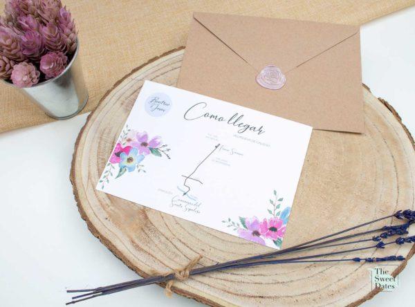 Mapa boda Priscila - The Sweet Dates