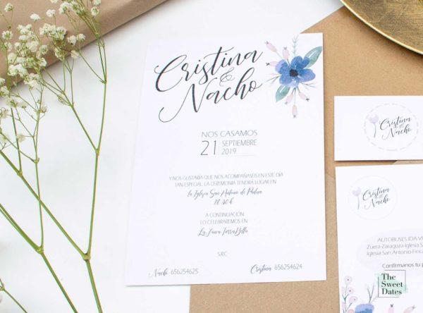 Invitación boda Liberata - The Sweet Dates Zaragoza