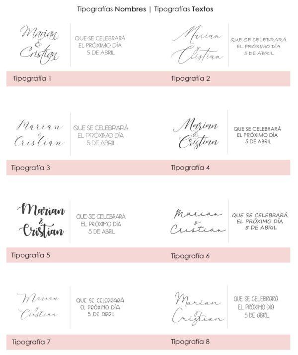 tipografia valeria invitaciones de boda