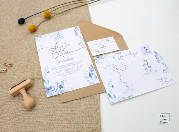 Invitación boda Loreta The Sweet Dates Zaragoza