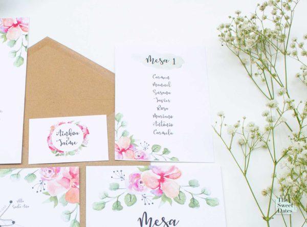 Seating plan mesas boda Verísima - The Sweet Dates