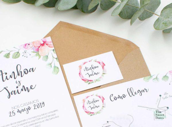 Tarjeta boda Verísima - The Sweet Dates