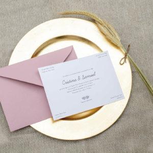 Invitación boda clásica elegante online