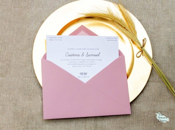 Invitación boda The Sweet Dates Clasica