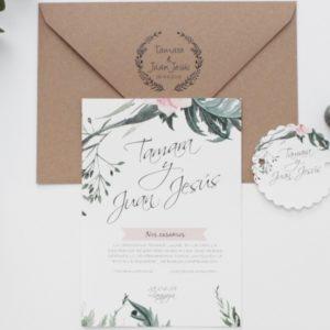 Invitaciones boda personalizada zaragoza - Sellos de caucho The Sweet Dates