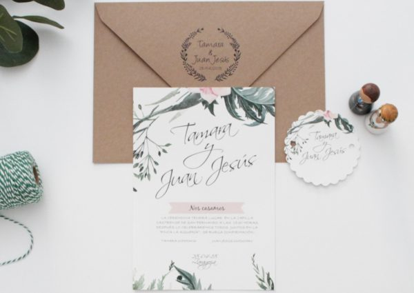 Invitaciones boda personalizada zaragoza - Sellos de caucho The Sweet Dates