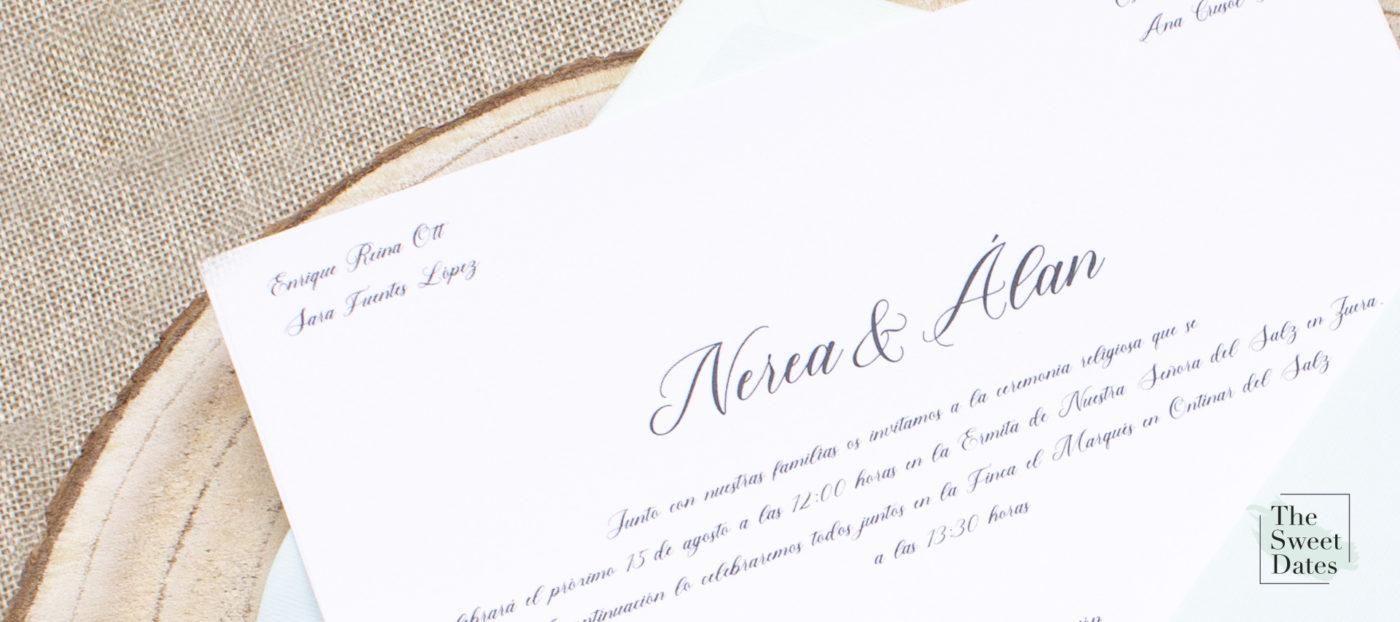 Reglas protocolo para redactar una invitación de boda formal