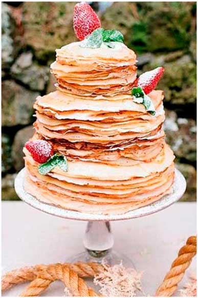 Tarta de tortitas de boda The Sweet Dates