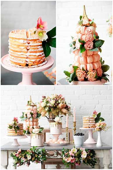 Candy bar gofres macarons tarta nupcial - The Sweet Dates