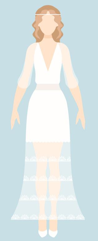 Vestido novia ovalo favorece The Sweet Dates