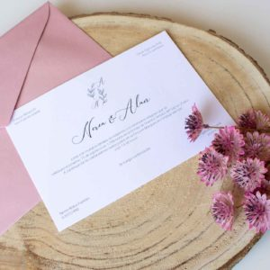 Invitación boda clásica Roma - The Sweet Dates