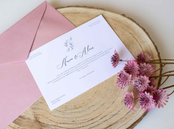 Invitación boda clásica Roma - The Sweet Dates