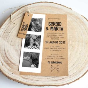 Invitacion boda rustica Mirelle fotomaton Mirelle - The Sweet Dates