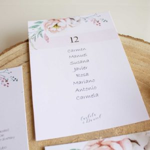 Organizar invitados boda - Seating plan boda - The sweet Dates Zaragoza