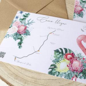 Mapa boda tropical Nicasia, como llegar a la boda - The Sweet Dates Zaragoza