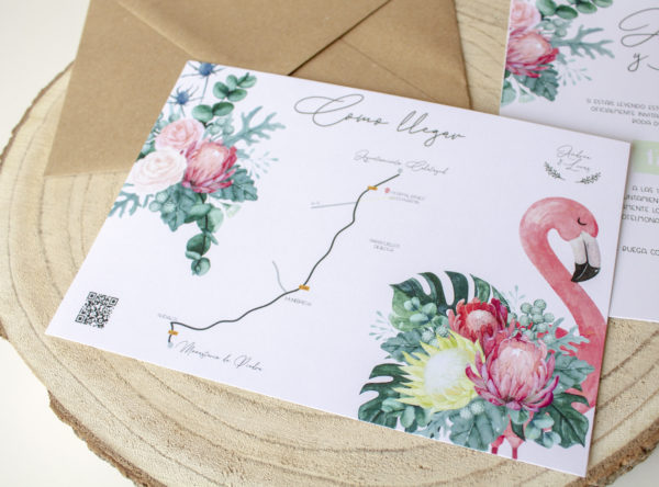 Mapa boda tropical Nicasia, como llegar a la boda - The Sweet Dates Zaragoza