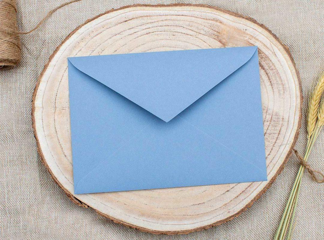 Sobre Azul acero para invitaciones de boda The Sweet Dates Zaragoza