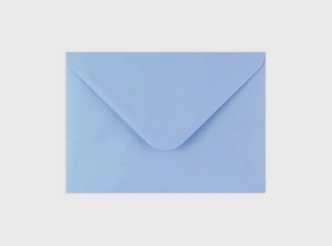 Sobre Azul Claro invitaciones de boda