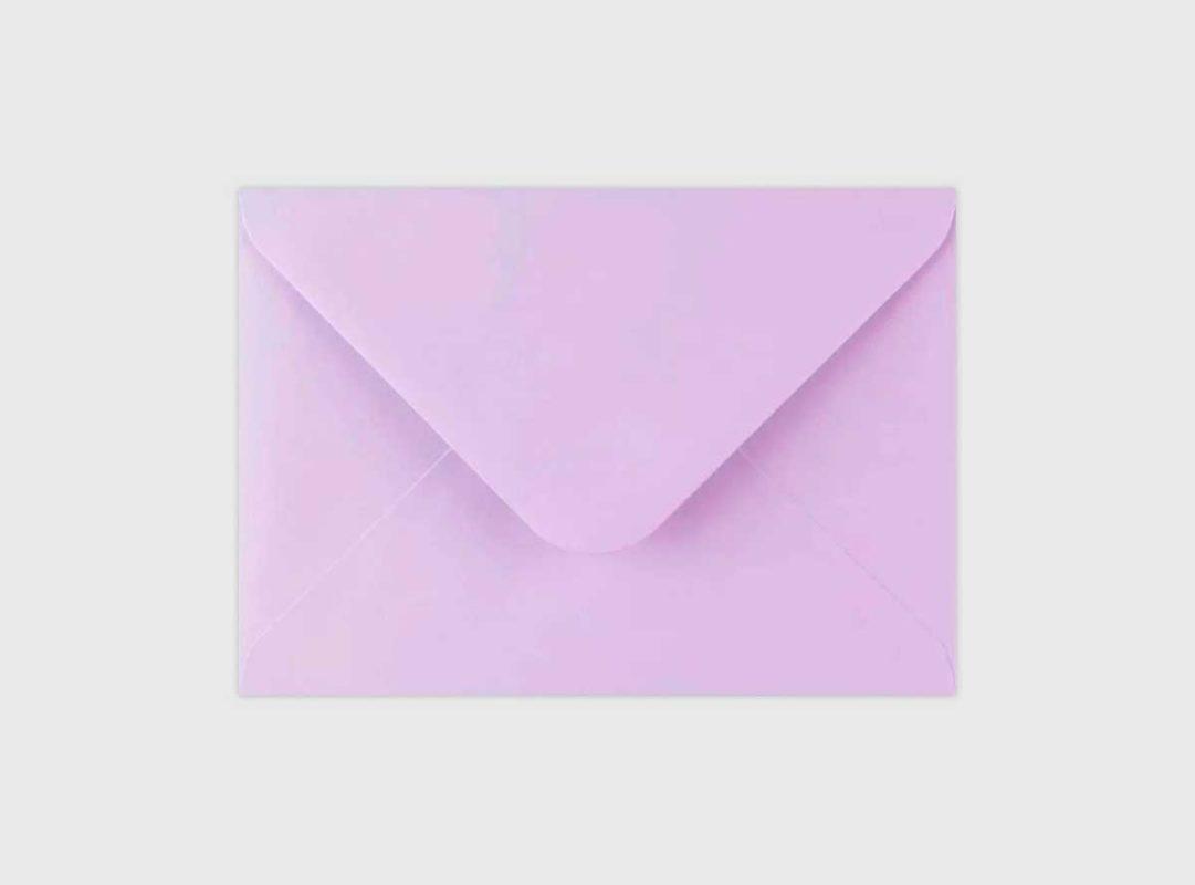 Sobre lila invitaciones de boda Zaragoza